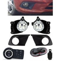 Kit Farol de Milha Neblina Chevrolet Onix Joy LT LS Com Moldura 2015 2016 2017 2018 2019 - Interruptor Modelo Original - Suns / Tiger / Zapos