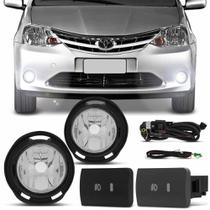 Kit Farol de Milha Toyota Etios Hatch Sedan 2012 em diante - Shocklight