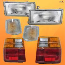 Kit Farol Lanterna Pisca Uno 91 92 93 94 95 96 97 98 Até 04 - FIAT