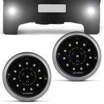Kit Farol Milha Auxiliar Redondo Slim Universal 12 LEDs 16W 24V Luz Branca para Caminhão Autopoli -
