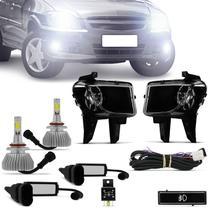 Kit Farol Milha Celta Prisma 2012 2013 + Par Lâmpadas Super LED Efeito Xenon - Kit Prime