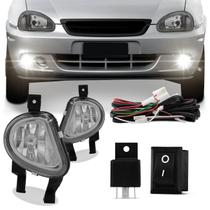 Kit Farol Milha Corsa Pick Up Sedan Classic 00 01 02 03 04 05 06 07 08 09 10 - Kit Prime