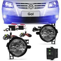 Kit Farol Milha Gol Parati Saveiro G4 2006 a 2012 + Kit Xenon 8000K Azulado - Prime