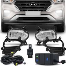 Kit Farol Milha Hyundai Creta 2017 2018 2019 2020 Auxiliar Neblina Botão Modelo Original - Prime