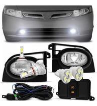 Kit Farol Milha New Civic 06 07 08 + Lampada 2d + Brinde Botao Original - Shocklight
