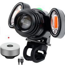 KIT Farol T6 XM-L + 2 X COB LED FRONTAL 1200 LUMENS + SUPER LED TRASEIRO - HEADLAMPSUPERLED