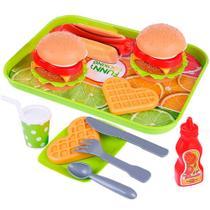 Kit Fast Food Bandeja De Comidinha Brinquedo Hora Do Lanche - XINYUE