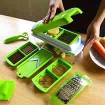 Kit Fatiador Cortador De Legumes Plástico E Inox - Clink -