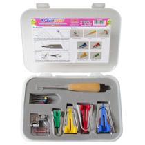 Kit Faz Viés + Calçador Mac-Len 10442 com 16 peças -