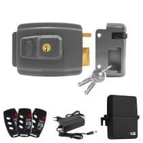 Kit Fechadura Elétrica Com 3 Controles Remotos -