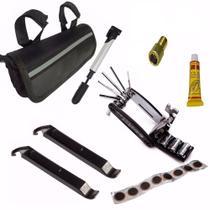 Kit Ferramenta Bike C/ Bolsa + Acessórios Bomba Reparo Chave - LL