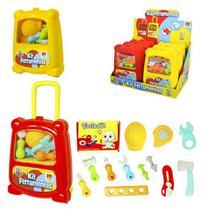 Kit ferramenta infantil tools set com trena e acessorios 15 pecas na mala colors - Dm brasil