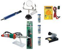 Kit Ferramentas Eletrônicas Lupa Multímetro Solda Sugador - Multimarcas