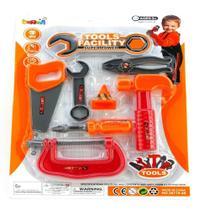 Kit ferramentas infantil com serrote martelo chave alicate oficina mecanica brinquedo crianças - ONLY TOYS