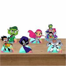 Kit Festa 6 Displays de Mesa Aniversário Jovens Titans - Inove Adesivos