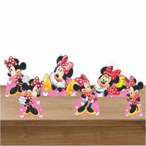 Kit Festa 6 Displays de Mesa Aniversário Minnie Vermelha - Inove Adesivos