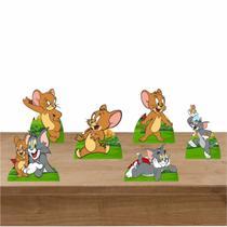 Kit Festa 6 Displays de Mesa Aniversário Tom e Jerry - Inove Adesivos