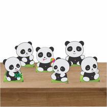 Kit Festa 6 Displays Mesa Aniversário Pandas - Inove Adesivos
