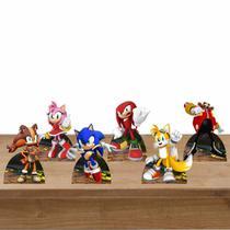 Kit Festa 6 Displays Mesa Aniversário Sonic - Inove Adesivos