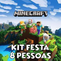 Kit Festa 8 Pessoas - Minecraft - Brilhante