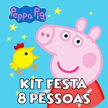 Kit Festa 8 Pessoas - Peppa Pig - Brilhante