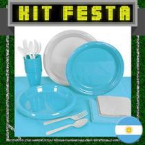 Kit Festa Copa do Mundo Argentina 20 pessoas - Festabox