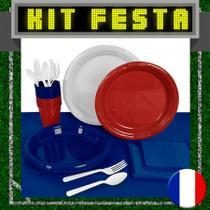 Kit Festa Copa do Mundo França 20 pessoas - Festabox