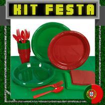 Kit Festa Copa do Mundo Portugal 20 pessoas - Festabox