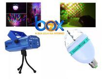 Kit Festa Iluminação Projetor Laser + Bola Maluca Led Rgb - Box7