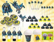 Kit Festa Infantil Batman 99 Peças (10 pessoas) -