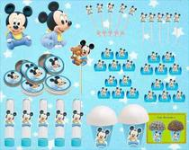 Kit Festa Infantil Mickey Baby 143 Peças (20 pessoas) -