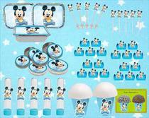 Kit festa  Infantil Mickey Baby 292 Peças (30 pessoas) -