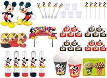 Kit festa Mickey 105 peças (10 pessoas) -