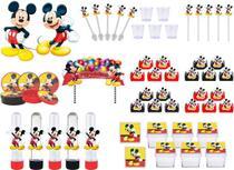 Kit festa Mickey 113 peças (10 pessoas) -