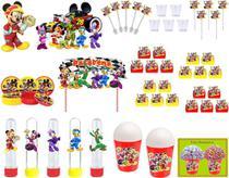 Kit festa Mickey Aventura Sobre Rodas 155 peças (20 pessoas) -