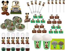 Kit Festa Mickey Safari 99 Peças (10 pessoas) -