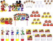 Kit festa Mickey Sobre Rodas 113 peças (10 pessoas) -