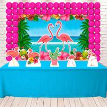 Kit Festa Ouro Flamingo  - IMPAKTO VISUAL -