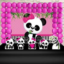 Kit Festa Ouro Panda Rosa  - IMPAKTO VISUAL -