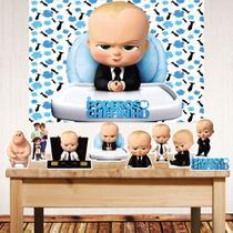 Kit festa Poderoso Chefinho com displays de mesa e painel poli banner - Companhia Do Mdf