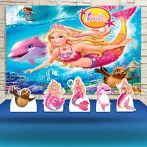 Kit Festa Prata Barbie Sereia - IMPAKTO VISUAL -