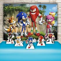 Kit Festa Prata Sonic   - IMPAKTO VISUAL -
