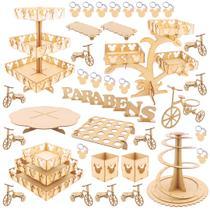 Kit Festa Provençal MDF - Mickey - 50 peças - Maxdecor - Maxdecor decorações