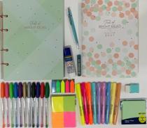 Kit fichário colegial pequeno + planner soho e acessórios TILIBRA -