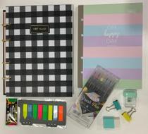 Kit fichário e acessórios Tilibra colorido -