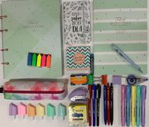 Kit fichário+estojo+canetas+planner e acessórios TILIBRA -