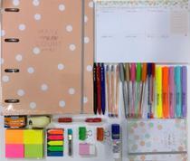 Kit fichário + planner + caderno sem pauta soho e acessórios TILIBRA -