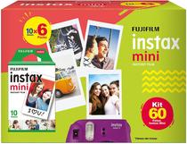 Kit filme fujifilm instax mini caixa 60 fotos -