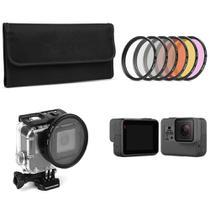 Kit Filtro 6 em 1 58mm Filtros UV+CPL+ND para GoPro Hero 7 6 5 - Shoot