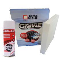 Kit filtro ar condicionado e Higienizador - Fiat Bravo Stilo e Nissan Sentra - Filtros Brasil -